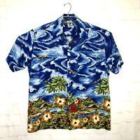 Kennington Ltd. Mens Size XL Hawaiian Camp Aloha Shirt Floral Print Shirt