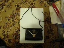 ladies black leather with studs and concho shoulder bag ladies