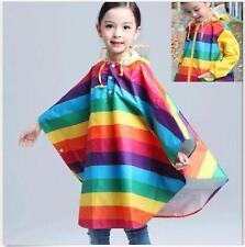 7607 Boy Girl Children Kids Raincoat  Rainwear Rain Suit Poncho Cape Hooded gift