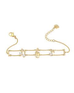 Swarovski Pleasant Gold Tone Czech White Crystal Bracelet 5491658