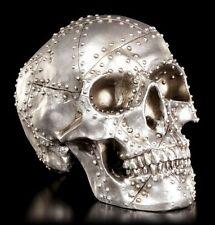 Metallplatten-Optik Totenkopf Figur - Rivet Head - Schädel Deko