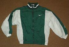Vintage Boys NIKE Green White WIND JACKET Breaker Size 7 Zip-Up Lined