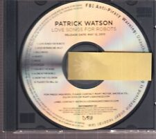 Patrick watson love songs for robots cd promo