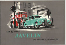 Jowett Javelin Saloon Standard & Deluxe 1949-50 Original UK Sales Brochure