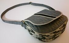 Cinda b Saddle Crossbody Shoulder Bag Purse Slate Gray EXCELLENT NEVER USED COND