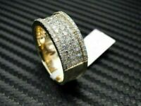 1.0Ct Brilliant Round Cut Diamond Men's Elegent Ring Band 14K Yellow Gold Finish