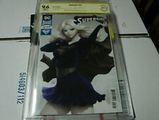 Supergirl 21 dc comics signed by Stanley lau ARTGERM CBCS 9.6 not CGC