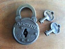 Winchester 6 lever Western lock rifle box Steel Padlock with 2 keys Firearms
