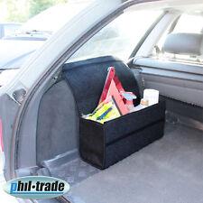 große Filz Kofferraum Tasche Werkzeugtasche schwarz mit Klett 48 x 15,5 x 25,5cm