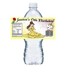 20 BEAUTY AND THE BEAST PRINCESS BELLE BIRTHDAY PARTY FAVORS WATER BOTTLE LABELS