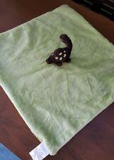 Gymboree Brown Dinosaur Green Lovie Soft Minky Baby Blanket Security Lovey