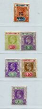 QV-KGVI SEYCHELLES LOVELY CLASSIC LOT ALL VERY FINE MH