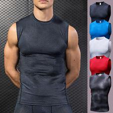 Herren Tank Top T-Shirt Muskelshirt Unterhemd Fitness Ärmellos Kompression Weste