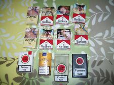 1 Lot de paquets a cigarette vide