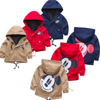 Baby Kid Toddler Boy Girl Casual Tops Hooded Jacket Coat Outfits Outwear Clothes