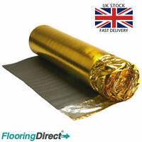 5mm Gold Underlay For Wood or Laminate Flooring - Any Size - Acoustic Insulation