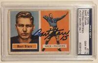 1957 Topps BART STARR Signed Football Card PSA/DNA 10 Ala Crimson Tide Packers