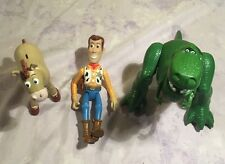 Toy Story Figures Lot - Woody Rex Bullseye Disney Movie Characters