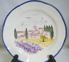 "Sur la Table 9"" Luncheon Salad Plate Tuscan Village Scene Portugal Nice!"