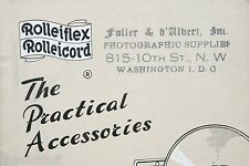 Rolleiflex Rolleicord The Practical Accessories From WASHINGTON D.C. Photo Store