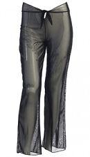 Black White Sheer Mesh Bikini Beach Pool Swimsuit Cover-Up Long Pants #NS010