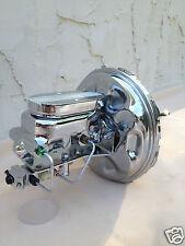"11"" Chrome brake booster & aluminum master cyl w/ under mount disc/disc valve"