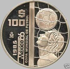 1985 Mexico 100 Peso Silver Coin (32.625 Grams .925 Silver)
