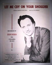 LET ME CRY ON YOUR SHOULDER / GEORGE DAVID WEIS - JOE SHERMAN - KEN DODD 1966