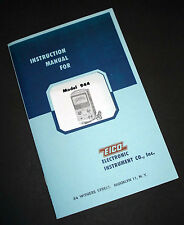 EICO Model 944 Flyby Transformer and Yoke Tester Instruction Manual