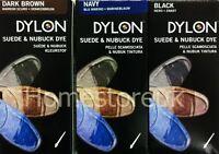 DYLON SUEDE & NUBUCK PERMANENT DYE SHOES BOOT RESTORE COLOUR SHADE KIT SET 50ML