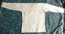 High Style Pullover Schurwolle Lambswool Zopfmuster beige Gr XL, 44/46