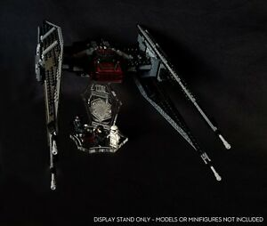 Display stand 3D angled +slots for Lego 75179 Kylo Ren's Tie Fighter (Star Wars)