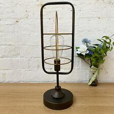 Vintage Industrial Standing Metal Glass Bedroom Side Table Desk LED Light Lamp C