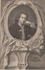 1800 Three Antique Portraits- Thomas Otway - English Dramatist -Venice Preserved