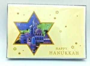 18 Pack Happy Hanukkah Greeting Cards  Judaism Theme Graphics w/Envelopes