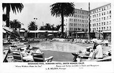 Real Photo Postcard Swimming Pool Miramar Hotel Santa Monica, California~110143