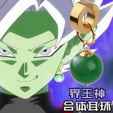 Anime Super Dragon Ball Z DBZ Black Son Goku Zamasu Earring Ear Stud Clip