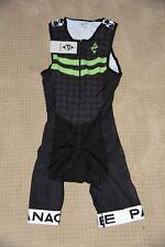 Panache Cycling Men's Triathlon Tri Kit Small Sleeveless Black Green White