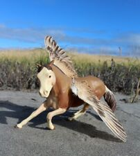 Rachis - customized Breyer Classic scale Scamper pegasus with real quail wings