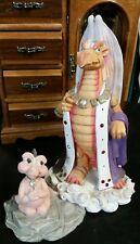 "Krystonia Escublar Dragon #1110 Fantasy Sculpture Statue Figure Large 9"" Rare"