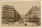 France, Paris, avenue de l'Opéra Vintage albumen print. Tirage albuminé