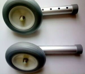 Zimmer walking  Frame Wheels (Pair) - to fit 22mm frame coopers sunrise mdical