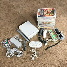 Nintendo Wii Bundle With Games Plus Controllers White Gamepad Joysticks RVL-001