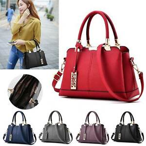 Handbag Leather Briefcase Women Ladies Shoulder Bag Tote Purse Messenger Satchel