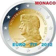 2  €     MONACO    LUCIEN  1°   2012     PIECE   SUPERBE     RARE    disponible