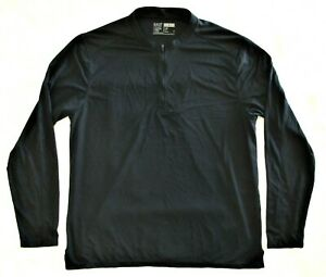 5.11 Tactical Mens Large 1/4 Zip Base Layer Shirt Long Sleeve Logo Charcoal Gray
