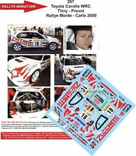 DECALS 1/18 REF 267 TOYOTA COROLLA WRC BRUNO THIRY RALLYE MONTE CARLO 2000 RALLY