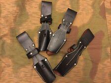 WW2 GERMAN ARMY k98 bayonet frog black leather NEW REPRODUCTION