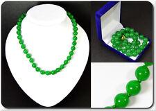 Grün Jade Perlenkette Kette Halskette Collier Strang  L47  Handarbeit Edelstein