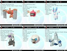 Pokemon Sword & Shield 6IV Battle Ready VGC Ranked Doubles Team Ultra Shiny